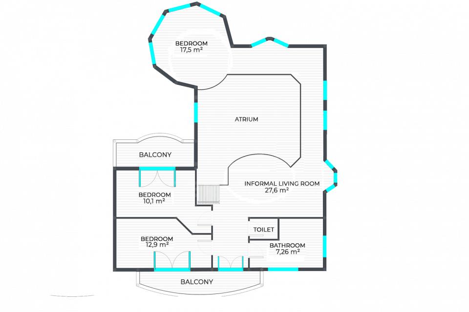 Különleges kialakítású lakás emelet