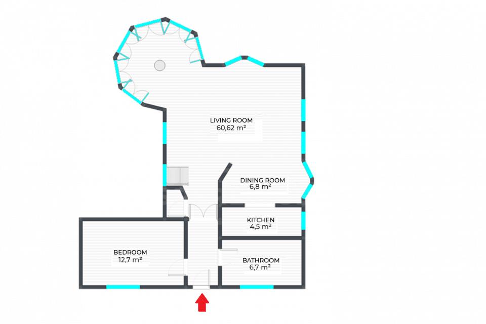 Különleges kialakítású lakás fsz